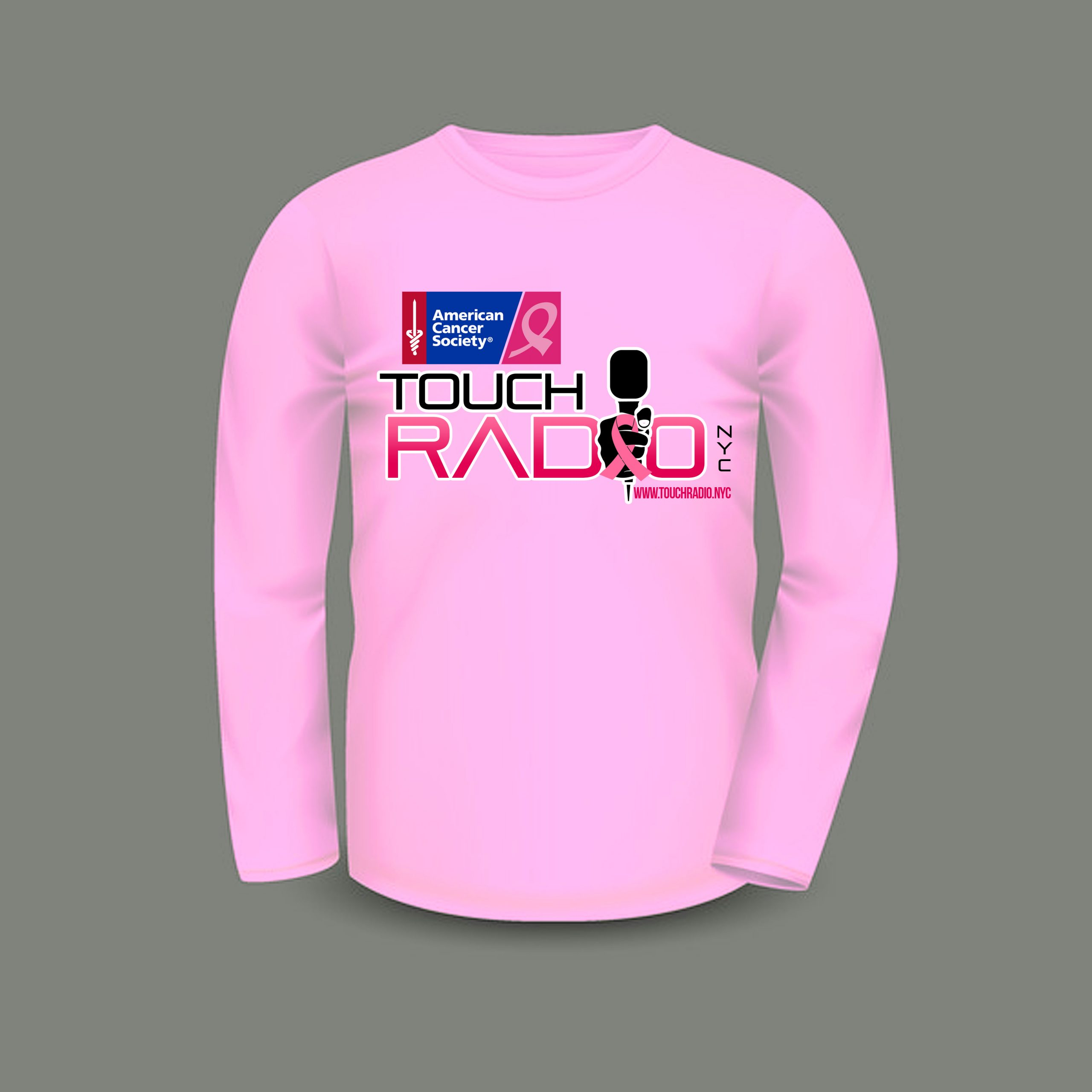 Fundraiser for Making Strides Against Breast Cancer  Male Long Sleeves T-Shirt